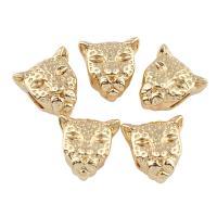 Zink Legierung Europa Perlen, Zinklegierung, Leopard, goldfarben plattiert, ohne troll, frei von Blei & Kadmium, 12x13x8mm, Bohrung:ca. 4mm, verkauft von PC