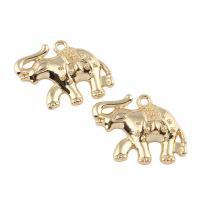 Zinklegierung Tier Anhänger, Elephant, goldfarben plattiert, frei von Blei & Kadmium, 27x21x5mm, Bohrung:ca. 2mm, verkauft von PC
