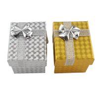 Schmuck Geschenkkarton, Papier, mit Funkeln Band, gemischt, 48x58x45mm, 5PCs/Tasche, verkauft von Tasche