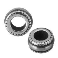 Edelstahl European Perlen, Rad, ohne troll & Schwärzen, 8.50x4.50x8.50mm, Bohrung:ca. 4.5mm, 10PCs/Menge, verkauft von Menge