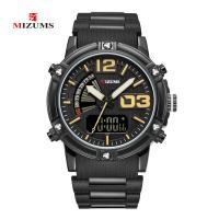 MIZUMS® Uhrenkollektion, Glas, mit Kunststoff & Zinklegierung, plattiert, für den Menschen & glänzend, keine, 45x12mm, Länge:ca. 8.6 ZollInch, verkauft von PC