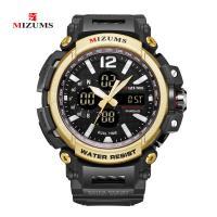 MIZUMS® Uhrenkollektion, Glas, mit Kunststoff & Zinklegierung, plattiert, für den Menschen & glänzend, keine, 53x16mm, Länge:ca. 10.2 ZollInch, verkauft von PC
