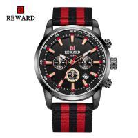 Reward® Uhrenkollektion, Glas, mit Nylon & Zinklegierung, plattiert, für den Menschen & glänzend, keine, 45x13mm, Länge:ca. 9.4 ZollInch, verkauft von PC