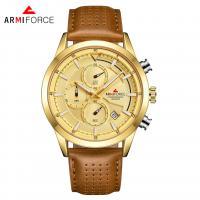 ARMIFORCE® Uhrenkollektion, Glas, mit PO Leder & Zinklegierung, plattiert, für den Menschen, keine, 44x12mm, Länge:ca. 10.2 ZollInch, verkauft von PC