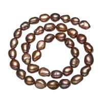 Keshi kultivierte Süßwasserperlen, Natürliche kultivierte Süßwasserperlen, Keishi, Kaffeefarbe, 8-9mm, Bohrung:ca. 0.8mm, verkauft per ca. 15 ZollInch Strang