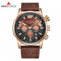 ARMIFORCE® Uhrenkollektion, Glas, mit PO Leder & Zinklegierung, plattiert, für den Menschen, keine, 45x12mm, Länge:ca. 10.2 ZollInch, verkauft von PC