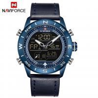NAVIFORCE® Uhrenkollektion, Glas, mit PO Leder & Zinklegierung, plattiert, für den Menschen & glänzend, keine, 45x15mm, Länge:ca. 10.2 ZollInch, verkauft von PC