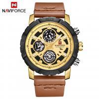 NAVIFORCE® Uhrenkollektion, Glas, mit PO Leder & Zinklegierung, plattiert, für den Menschen, keine, 46x13mm, Länge:ca. 10.2 ZollInch, verkauft von PC