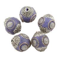 Indonesien Perle, mit Zinklegierung, Olive, antik silberfarben plattiert, 16x19mm, Bohrung:ca. 1mm, verkauft von PC