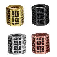 Zirkonia Micro Pave Messing Europa Bead, Zylinder, plattiert, Micro pave Zirkonia & ohne troll, keine, 8.50x8.50x7.50mm, Bohrung:ca. 4.5mm, 10PCs/Menge, verkauft von Menge