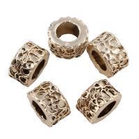 Edelstahl-Perlen mit großem Loch, Edelstahl, Kreisring, Helle Goldfarbe überzogen, großes Loch, 6x11mm, Bohrung:ca. 6mm, 20PCs/Tasche, verkauft von Tasche
