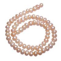 Barock kultivierten Süßwassersee Perlen, Natürliche kultivierte Süßwasserperlen, Klumpen, natürlich, Rosa, 7-8mm, Bohrung:ca. 0.8mm, verkauft per ca. 15 ZollInch Strang