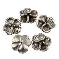 Verkupfertes Kunststoff-Perlen, Verkupferter Kunststoff, Blume, Platinfarbe platiniert, Schwärzen, 22x21x6mm, Bohrung:ca. 1mm, 20PCs/Tasche, verkauft von Tasche