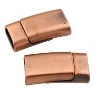 Zinklegierung Magnetverschluss, antike Kupferfarbe plattiert, frei von Blei & Kadmium, 25x13x8mm, Bohrung:ca. 10x5mm, verkauft von PC