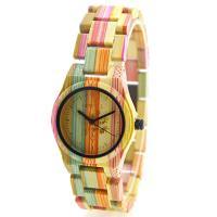 BEWELL® Uhrenkollektion, Bambus, mit Glas & Edelstahl, schwärzen, für Frau, keine, 40mm, Länge:ca. 8.5 ZollInch, verkauft von PC