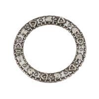 Zinklegierung Verbindungsring, Kreisring, antik silberfarben plattiert, frei von Nickel, Blei & Kadmium, 14x14x2mm, Bohrung:ca. 10mm, 100PCs/Menge, verkauft von Menge
