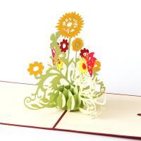 Papier 3D Grußkarte, Blumenstrauß, handgemacht, mit Umschlag & 3D-Effekt, 150x150mm, verkauft von PC