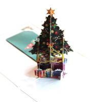 Papier 3D Grußkarte, Weihnachtsbaum, handgemacht, mit Umschlag & 3D-Effekt, 150x150mm, verkauft von PC