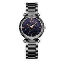 MEIBIN® Damen Schmuck Uhren, Zinklegierung, mit Glas, plattiert, Sternendesign & für Frau, keine, 34x10mm, Länge:ca. 7.8 ZollInch, verkauft von PC