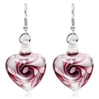 Lampwork Schmuck Ohrring, Messing Haken, Herz, für Frau, keine, 25mm, verkauft von Paar