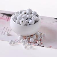 Porzellan Schmuckperlen, Trommel, verschiedene Größen vorhanden, Bohrung:ca. 2mm, 50PCs/Tasche, verkauft von Tasche