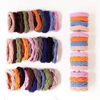 Elastisches Haarband, Gummiband, mit Stoff, verschiedene Stile für Wahl & für Frau, 45mm, 10PCs/Menge, verkauft von Menge