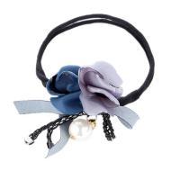 Haarknoten Dutt Dreher, Stoff, mit Nylonschnur & Kunststoff Perlen, Blume, handgemacht, für Frau, keine, 310mm, verkauft von PC