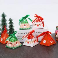 Papier Weihnachts-Geschenkbox, Weihnachtsschmuck, 80x80x90mm, 30PCs/Menge, verkauft von Menge