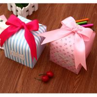 Schmuck Geschenkkarton, Papier, gemischte Farben, 120x123x120mm, 20PCs/Menge, verkauft von Menge