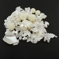 ABS-Kunststoff-Perlen, 15x15x2mm-56x45x9mm, Bohrung:ca. 1.5mm, ca. 312PCs/Tasche, verkauft von Tasche