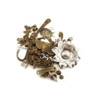 Verschiedene Komponente, Zinklegierung, plattiert, frei von Blei & Kadmium, 9x9x3mm-24x123x3mm, Bohrung:ca. 1-6mm, verkauft von kg