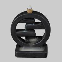 Porcelain Backflow Incense Burner, Porzellan, schwarz, 115x53x130mm, verkauft von PC