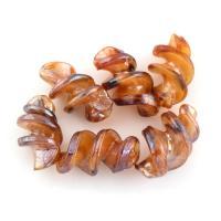 Handgewickelte Perlen, Lampwork, Spirale, 28x17x17mm, Bohrung:ca. 1.5mm, 10PCs/Tasche, verkauft von Tasche