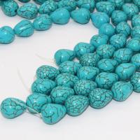 Türkis Perlen, Natürliche Türkis, mit Kristall Faden, Tropfen, 12x16mm, Bohrung:ca. 1-2mm, Länge:ca. 17 ZollInch, 3SträngeStrang/Menge, 27PCs/Strang, verkauft von Menge