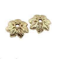 Zinklegierung Perlenkappe, goldfarben plattiert, frei von Blei & Kadmium, 15x4mm, Bohrung:ca. 2mm, 20PCs/Tasche, verkauft von Tasche