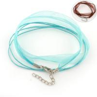 Nylonschnur Halskette Schnur, mit Funkeln Band & Messing, mit Verlängerungskettchen von 5cm, 3-Strang, keine, 11x0.5mm, Länge:ca. 17.3 ZollInch, 100SträngeStrang/Tasche, verkauft von Tasche
