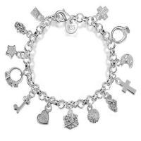 Sterling Silber Armbänder, 925er Sterling Silber, versilbert, Rundgliederkette & für Frau, frei von Nickel, Blei & Kadmium, verkauft per ca. 8 ZollInch Strang