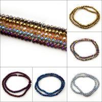 Mode Glasperlen, Rondell, verschiedene Größen vorhanden & facettierte, keine, Bohrung:ca. 1mm, verkauft von Strang