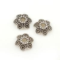 Zinklegierung Perlenkappe, antik silberfarben plattiert, frei von Blei & Kadmium, 10x4mm, Bohrung:ca. 2mm, ca. 500PCs/Tasche, verkauft von Tasche