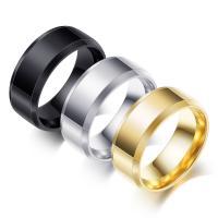 Edelstahl Ringe, plattiert, unisex & verschiedene Größen vorhanden, keine, verkauft von PC
