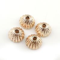 Zinklegierung Perlenkappe, goldfarben plattiert, frei von Blei & Kadmium, 9x5mm, Bohrung:ca. 1.5mm, 20PCs/Tasche, verkauft von Tasche