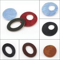PU Leder Anhänger, verschiedene Stile für Wahl, 41x41mm-35x35mm, Bohrung:ca. 1mm, 50PCs/Tasche, verkauft von Tasche