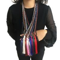 Kristall Pullover Halskette, mit Nylon, für Frau, mehrere Farben vorhanden, 120mm, verkauft per ca. 35.4 ZollInch Strang