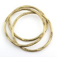 Edelstahl Verbindungsring, Zinklegierung, Kreisring, antike Bronzefarbe plattiert, frei von Blei & Kadmium, 41x2mm, Innendurchmesser:ca. 39mm, 5PCs/Tasche, verkauft von Tasche