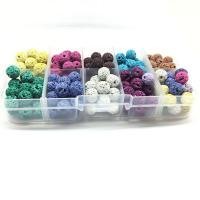 Künstlicher vulkanischer Stein Perle, Emaille & gemischt, 8mm, Bohrung:ca. 2-3mm, 180PCs/Box, verkauft von Box