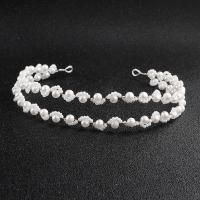 Braut Haarband, Perlen, handgemacht, für Braut, Silberfarbe, Länge:ca. 11.82 ZollInch, verkauft von PC