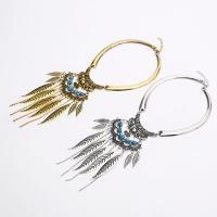 Zinklegierung Franse Halskette, mit Türkis, plattiert, für Frau & mit Strass, keine, frei von Nickel, Blei & Kadmium, verkauft per ca. 15 ZollInch Strang