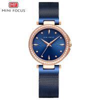 MINIFOCUS® Uhrenkollektion, Zinklegierung, mit Glas & Edelstahl, plattiert, für Frau & mit Strass, keine, 36mm, Länge:ca. 8.8 ZollInch, verkauft von PC