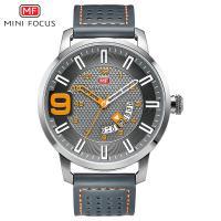 MINIFOCUS® Uhrenkollektion, Zinklegierung, mit Leder & Glas, plattiert, für den Menschen & glänzend, keine, 48mm, Länge:ca. 9.7 ZollInch, verkauft von PC