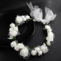 Brautkranz, Stoff, Blume, handgemacht, Hochzeitsgeschenk & für Frau, keine, Länge:ca. 19.69 ZollInch, verkauft von PC